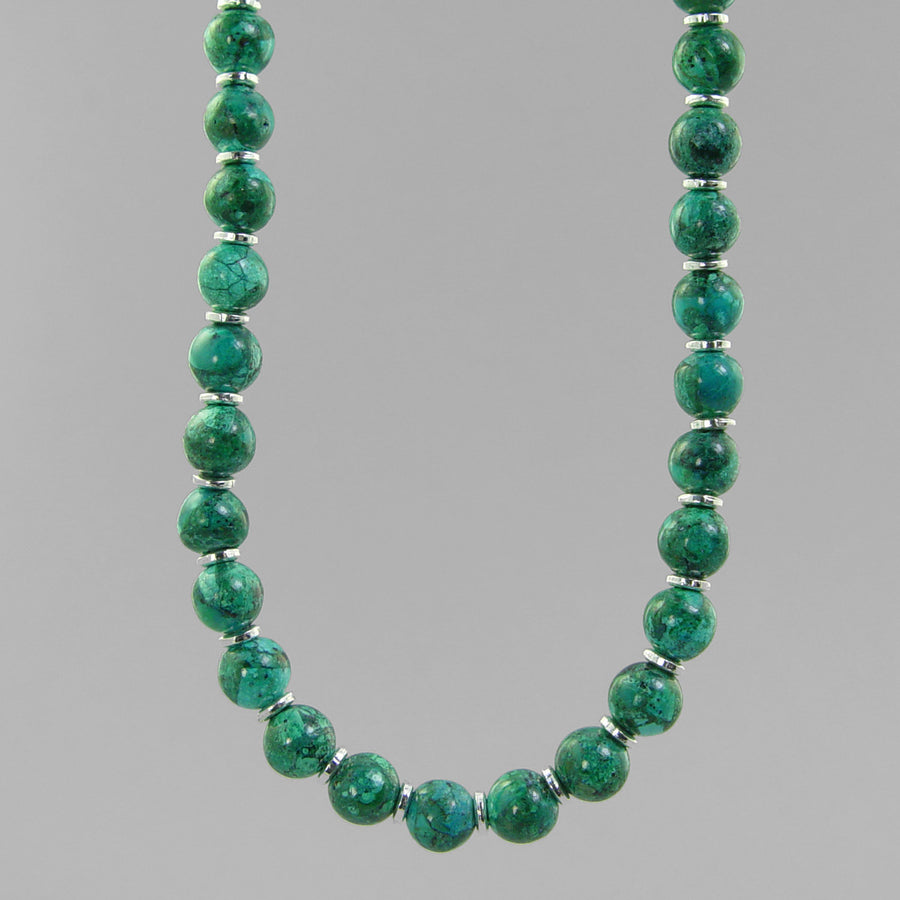Chrysocolla Classic Round Necklace