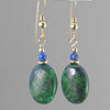 Chrysocolla Oval Earrings