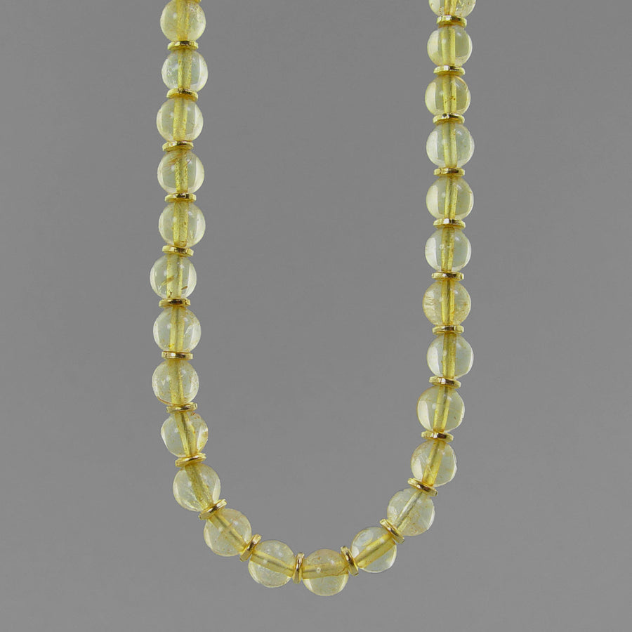 Citrine Classic Round Necklace