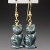 Hematite Cat Earrings