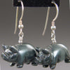 Hematite Pig Earrings