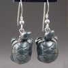 Hematite Turtle Earrings