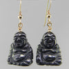Hematite Buddha Earrings