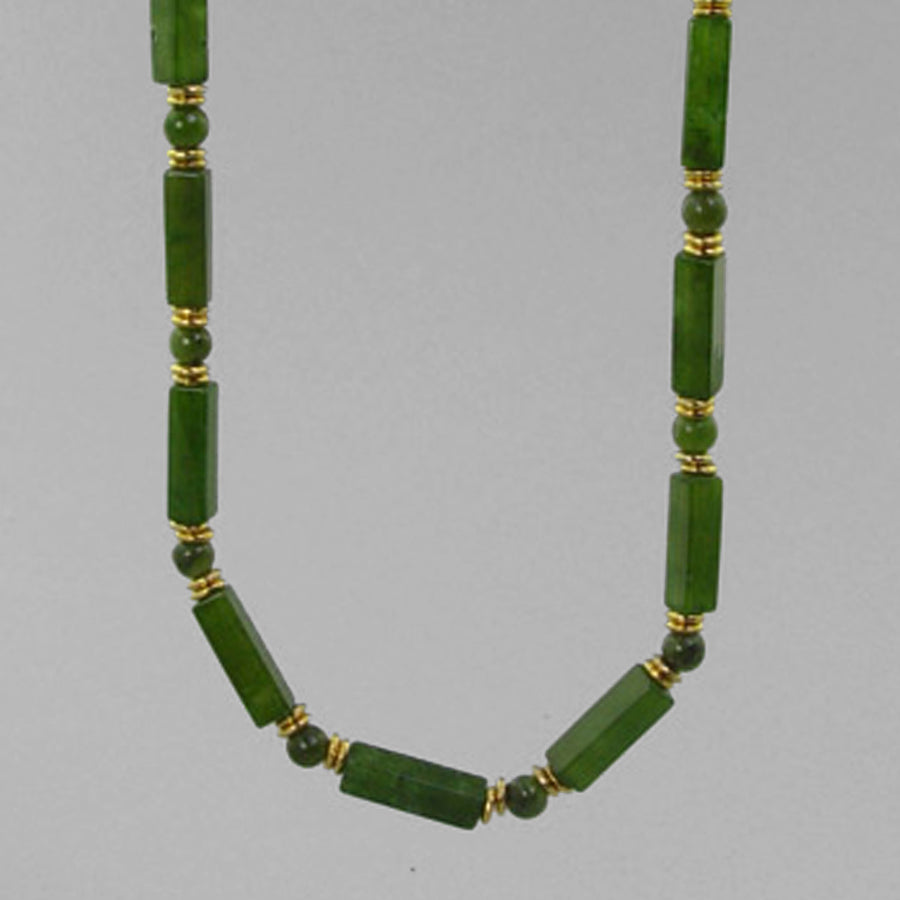 Jade Rectangle Necklace