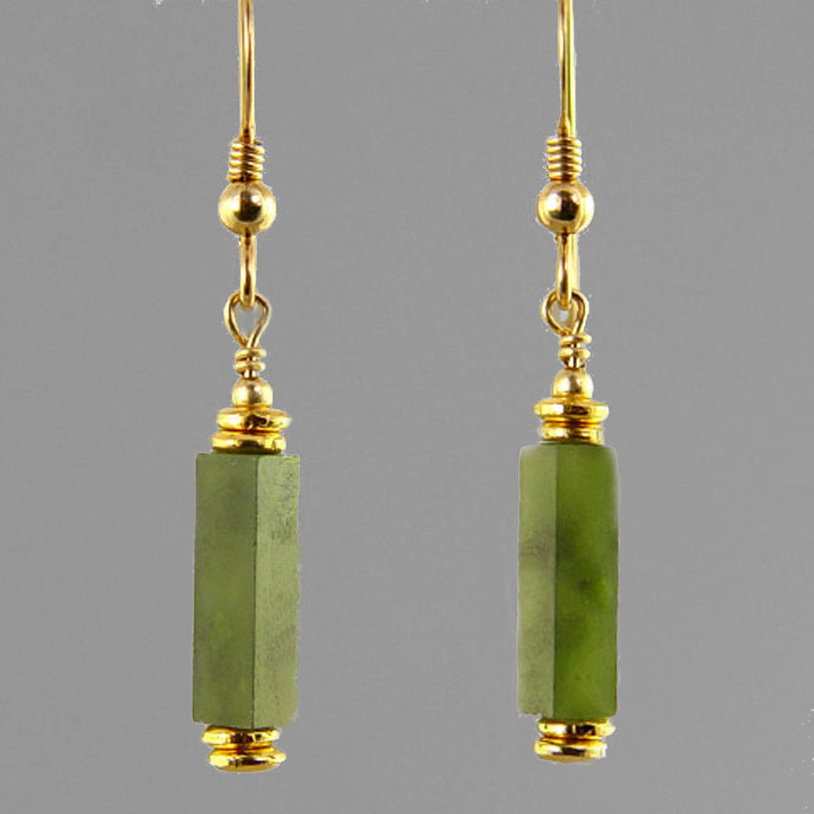 Jade Rectangle Earrings