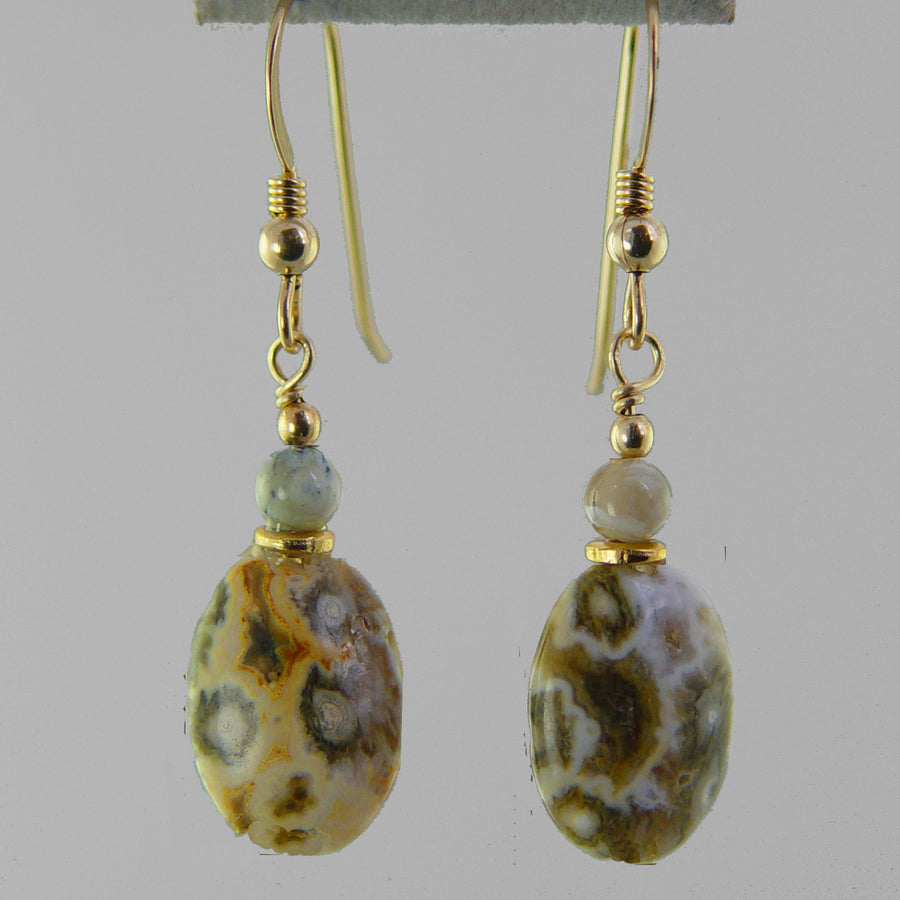 Ocean Jasper Oval Earrings