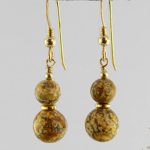 Picture Jasper Classic Drop Earrings