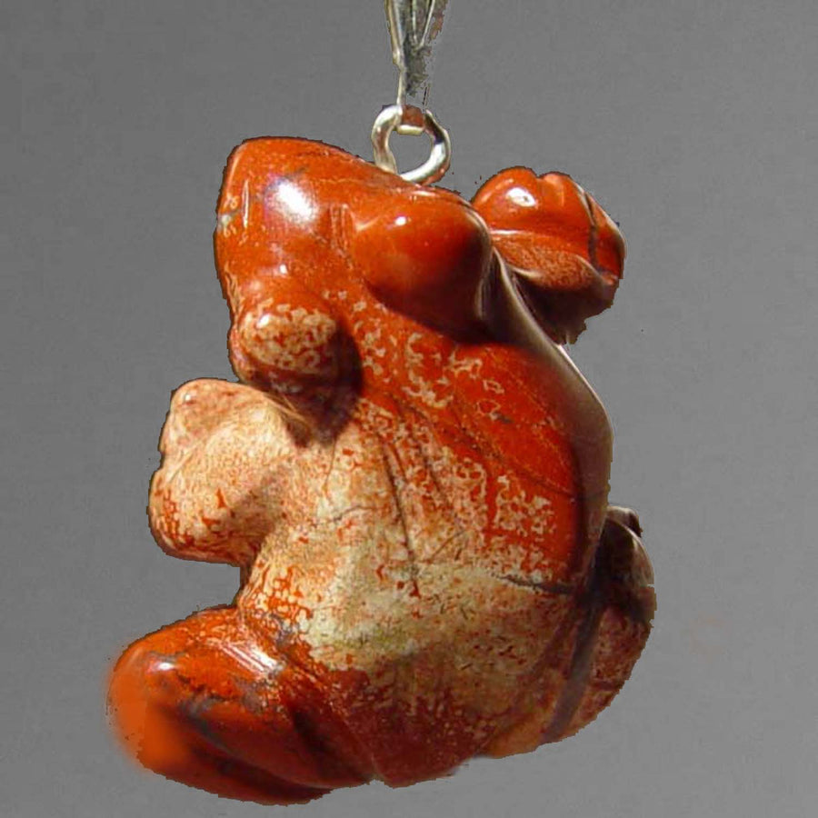 18.75 Cts. Beautiful Natural Designer Poppy Jasper Pear Cabochon Light Red Brown color Pendant size 30x25x4 mm
