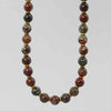 Poppy Jasper Classic Round Necklace