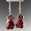 Poppy Jasper Dog Earrings