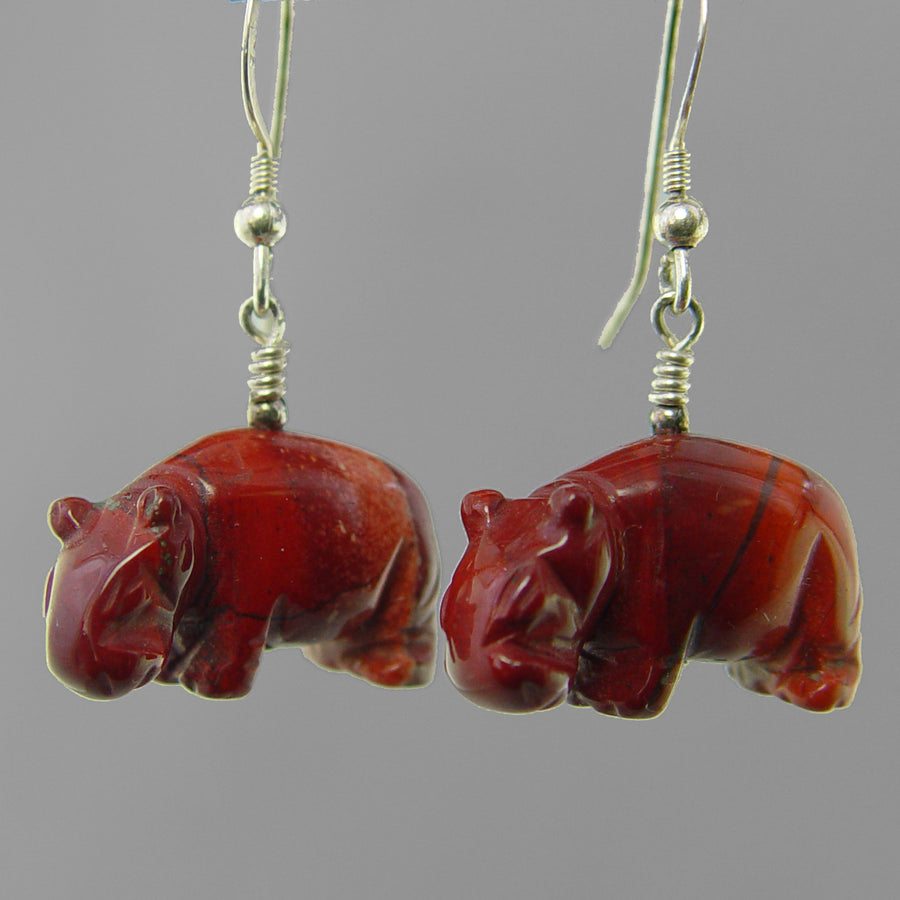 Poppy Jasper Hippo Earrings
