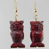 Poppy Jasper Owl Earrings