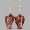 Poppy Jasper Angel Earrings