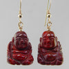 Poppy Jasper Buddha Earrings