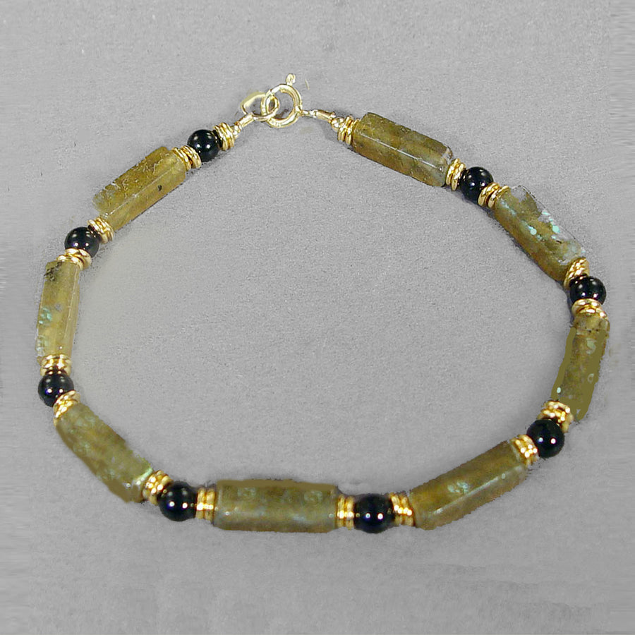 Labradorite Rectangle Bracelet
