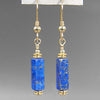 Lapis Lazuli Rectangle Earrings