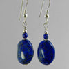Lapis Lazuli Oval Earrings