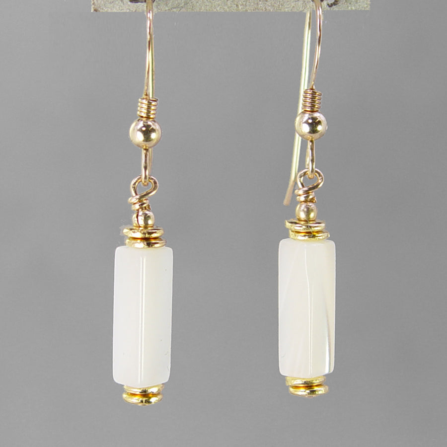 Mother of Pearl Rectangle Earrings