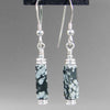 Snowflake Obsidian Rectangle Earrings