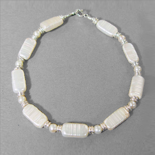 Pearl Rectangle Bracelet