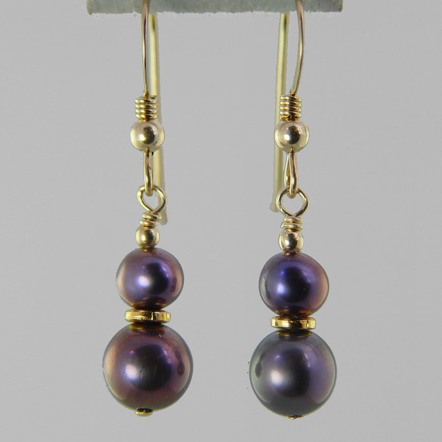 Iridescent Pearl Classic Drop Earrings