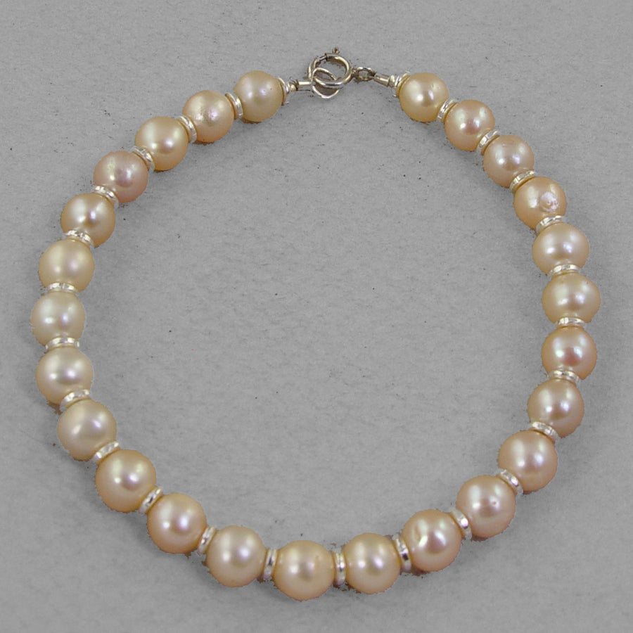 Rose Pearl Classic Round Bracelet