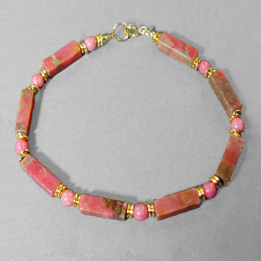 Rhodonite Rectangle Bracelet
