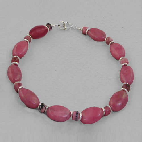 Rhodonite Oval Bracelet