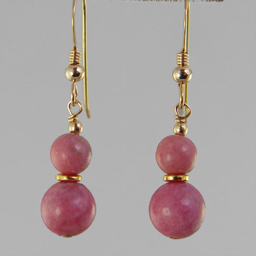 Rhodonite Classic Drop Earrings