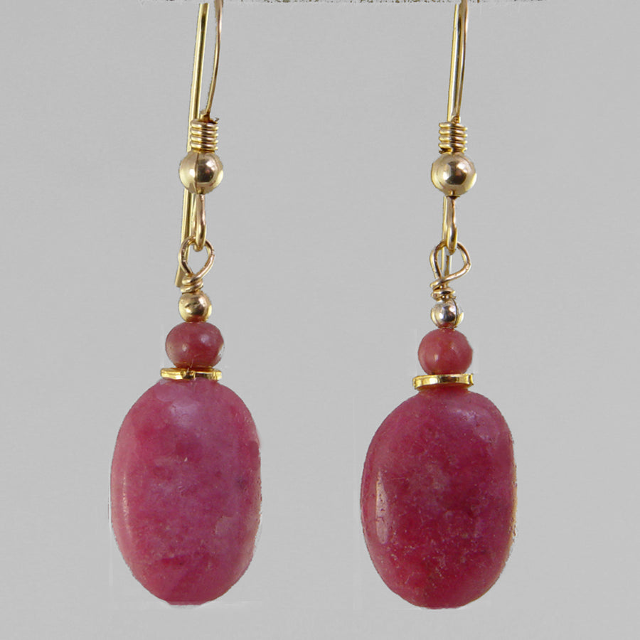 Rhodonite Oval Earrings