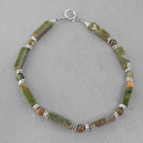 Rhyolite Rectangle Bracelet