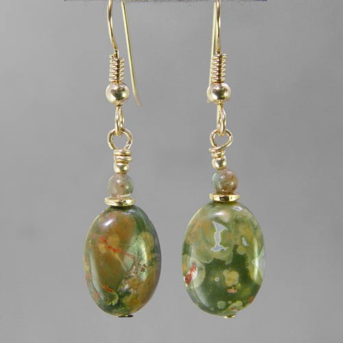 Rhyolite Oval Earrings