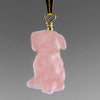 Rose Quartz Dog Pendant