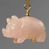 Rose Quartz Pig Pendant