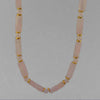 Rose Quartz Rectangle Necklace