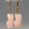 Rose Quartz Cat Earrings