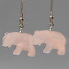 Rose Quartz Elephant Earrings