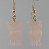 Rose Quartz Owl Earrings