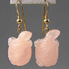 Rose Quartz Turtle Earrings
