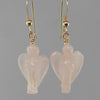Rose Quartz Angel Earrings