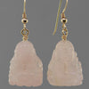 Rose Quartz Buddha Earrings