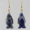 Sodalite Penguin Earrings