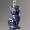 Blue Goldstone Cat Pendant