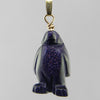 Blue Goldstone Penguin Pendant