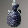Blue Goldstone Turtle Pendant