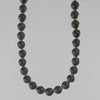 Blue Goldstone Classic Round Necklace