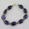 Blue Goldstone Oval Bracelet