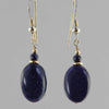 Blue Goldstone Oval Earrings
