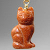 Goldstone Cat Pendant