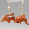 Goldstone Dolphin Earrings
